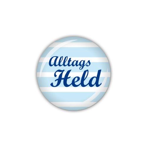 lijelove® Button 25mm Ø DOTS & STRIPES Alltagsheld, blau (Art. 04-00GR) -