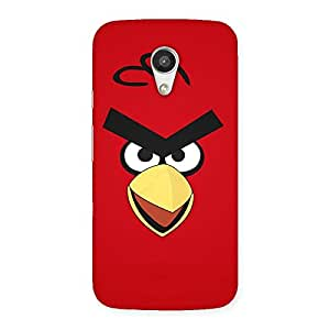 Delighted Red Yelo Peak Back Case Cover for Moto G 2nd Gen