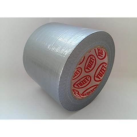 4grandi rotoli Yuzet 96mm larghezza argento panno Gaffer nastro Gaffa Tape Duct imballaggio