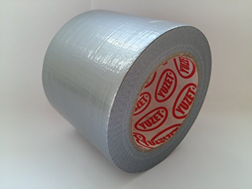 Yuzet-12 rotoli di carta grandi, 96 mm, con panno per pulizia argento Tex-Rotolo di nastro Gaffa Tape Duct