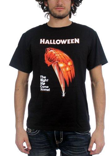 Halloween - Nacht kam er nach Hause Adult T-Shirt in Schwarz, Medium, Black