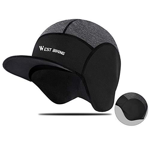 WESTGIRL Wintermütze mit Ohrenklappen, Winddichte Warm Fleece Cap für Herren Damen, Kaltes Wetter Outdoor Sports Mütze mit Reflexstreifen zum Radfahren, Laufen, Skifahren, Wandern, Klettern