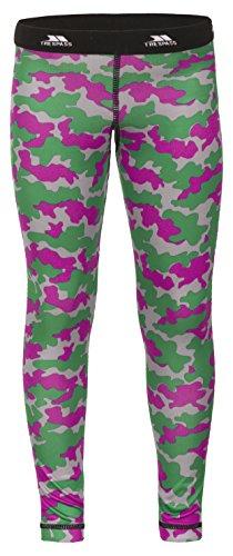 Trespass Klutz, Hot Pink Camo, 2/3, Schnelltrocknende Antibakterielle Baselayer Hose für Kinder / Unisex / Mädchen und Jungen, 2-3 Jahre, Grün (Schlitten Camo)