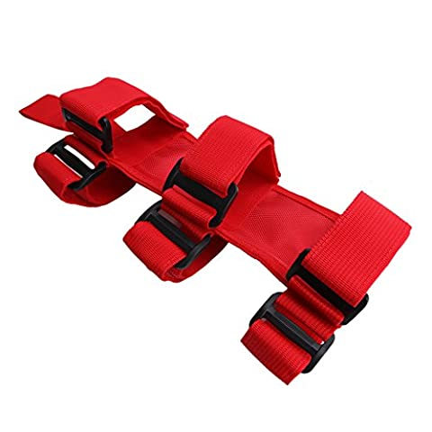 Red Roll Bar Fire Extinguisher Holder For Jeep Wrangler YJ