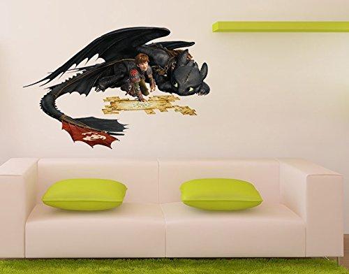 Klebefieber Wandtattoo Dragons Hicks und Ohnezahn B x H: 46cm x - Bettwäsche Pirat Kostüm