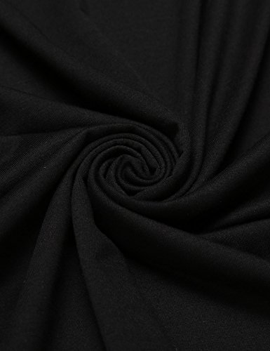 Zeela Herre Langarm Shirt Longsleeve Slim Fit Shirt Leicht Basic Shirt Schwarz