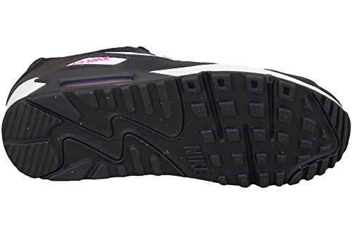 Nike Air Max 90 Mesh (Gs), Scarpe da Corsa Bambina Bianco-Blu marino