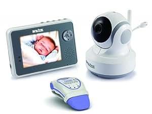 Snuza Trio Plus Baby Monitor System - Movement Tracking, Room Temperature Display, 2-Way Audio, and Live Video Feed - Includes Snuza Video and Snuza Hero Units by Snuza (English Manual)