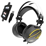 GAMDIAS Hebe M1 RGB Cuffie Gaming Usb Headset Con Microfono E Audio Sorround 7.1, Altoparlanti 50mm, Ergonomico