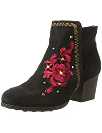 Desigual Shoes_country Red Flower, Bottes Chelsea Femme