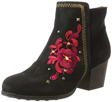 Chaussures Desigual - Desigual Shoes_country Red Flower, Bottes Chelsea Femme,