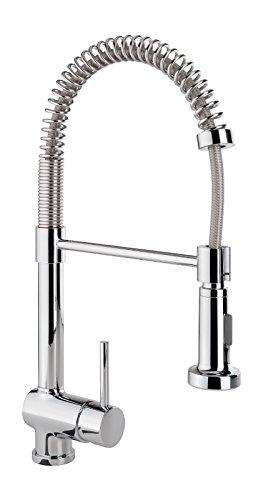 Preisvergleich Produktbild Einhandmischer Bali Professional für Küchenspüle mit Geschirrbrause | Niederdruck | Chrom | Wasserhahn | Spüle