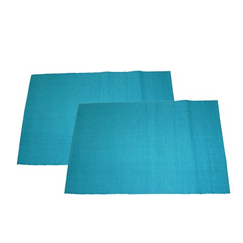 Unbekannt ROLLER 2er-Set Tischset - blau - Baumwolle - 33x48 cm