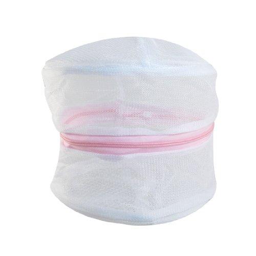sourcing map Zip Rose Soutien-Gorge sous-Vêtement Blanchisserie Filet Lavage Lavage Blanc Sac