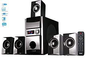 Truvison SE-5085 5.1 Multimedia Speaker System with USB FM AUX MMC Superior Sound Clarity