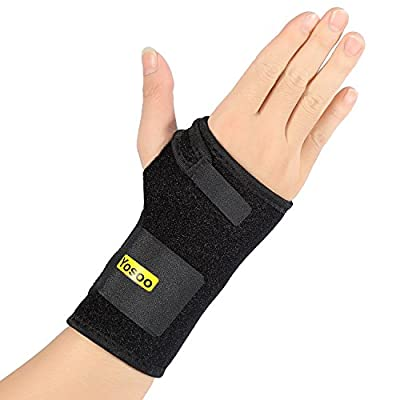 Wrist Support,Yosoo Carpal Tunnel Splint Breathable Neoprene Black Wrist Brace for Immediate Pain Relief from Carpal Tunnel Syndrome, Tendonitis ,Wrist Pain, Sprains, RSI and Arthritis