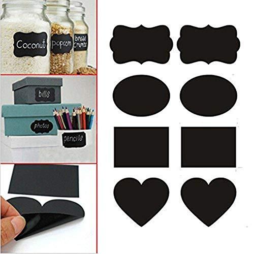 EPRHY Kreidetafel Aufkleber Etiketten Wiederverwendbar Tafelaufkleber für Küche, Speisekammer, Mason Jars, Weingläser