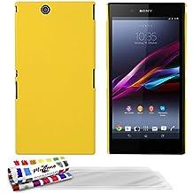 Muzzano Le Pearls - Funda para Sony Xperia Z Ultra + 3 protecciones de pantalla, color amarillo