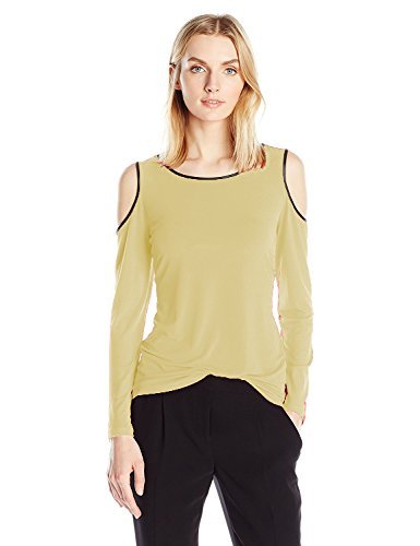 Pegaso Fashion Women/Girls Top Tees Shirt Tunic ( Crepe Fabric Boat Neck Full Sleeves Beige Color)