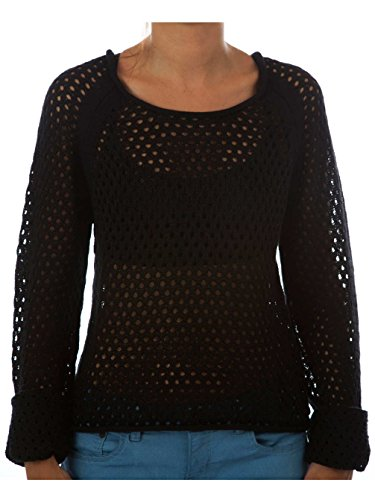 Hurley Penny Crop Sweater, Woman, Color: Black 00A