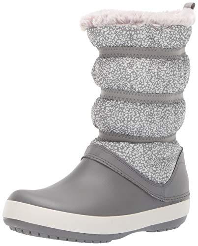 crocs Damen Crocband Winter Boot Women Schneestiefel, Mehrfarbig (Dots/Smoke), 37/38 EU