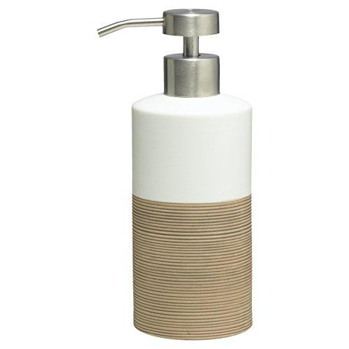Sealskin Dispensador de Jabón Doppio, 6.7 x 8.5 x 18 cm, Porcelana, Arena