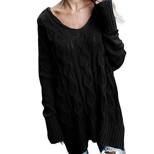 (MIRRAY Damen Plus Size Streifen Langarm Mode T-Shirt Tops Pullover Mantel Pullover)