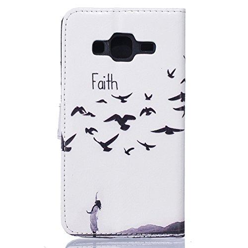 C-Super Mall-UK Apple iPhone 7 Plus hülle,PU-Leder gemalt Relief Mappen-Standplatz Flip Magnetverschluss Schnalle hülle für Apple iPhone 7 Plus faith