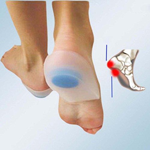 Huayang weichen Silikon Heel Pad Schuhe Einlagen Fußpflege entlasten Heel Schmerzen Kissen (weiß, groß)