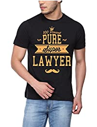 pepperClub Men's Printed T-Shirt - 100% Pure Lawyer