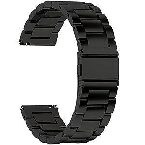 Fullmosa 3 Colores para Correa Metálica de Reloj de Liberación Rápida, Pulsera Reloj de Acero Inoxidable 14mm 16mm 18mm… 10