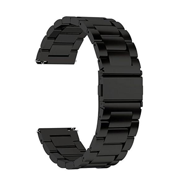 Fullmosa 3 Colores para Correa Metálica de Reloj de Liberación Rápida, Pulsera Reloj de Acero Inoxidable 14mm 16mm 18mm… 1