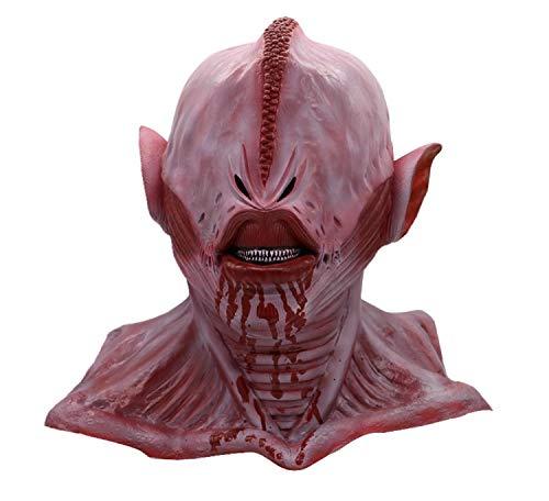 Koojawind KostüM Horror Alien Rote Masken, Erwachsene Latex-Gehirn-QualitäTsmaske, Fancy Halloween Costume Play Mask