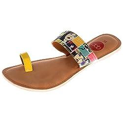 Dash Of Bling Womens Matt Satin Flatform Sandals- 41