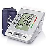 WANGXN Macchina per La Pressione del Sangue Digitale con Braccio Superiore del Monitor per La Pressione Sanguigna con Ampio Display LCD