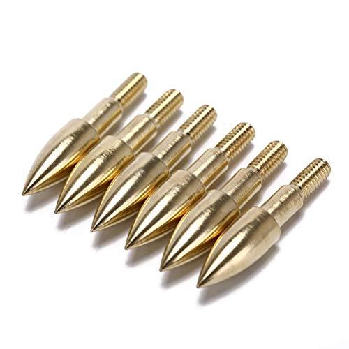 AOWA 6Pcs 100Kornpfeilspitzen-Eisen-Broadhead für Armbrustpfeil-Spitze-Kopf