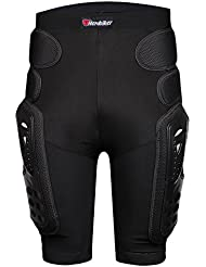 Fastar Cojin de proteccion extremo de cadera - Motocross Racing Motorcycle Body Armor Protección Gears Pantalones cortos (Negro, L)