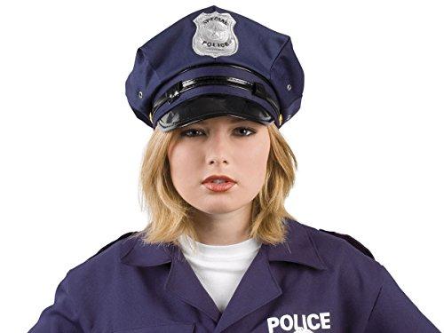 Cappello | Copricapo da Poliziotto | Blu Scuro | Taglia Unica Adulti Adolescenti | Travestimento | Costume | Carnevale | Halloween | Serata Festa a Tema |, Poliziotto Blu 97050