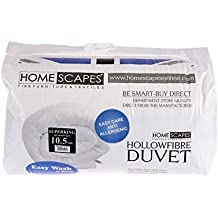Homescapes Luxury Synthetic Hollowfibre Duvet - 10.5 Tog - SUPER KING SIZE - Washable at Home by Homescapes