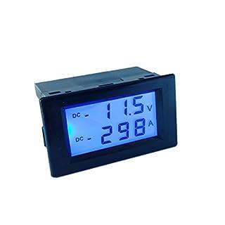 AILI DC 20V +/-300A Digital Ammeter Gauge AMP Panel Meter Current Tester Voltage Current Bidirectional Current Car Boat Solar Wind HHO