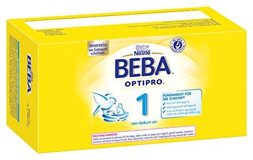 Nestlé BEBA Optipro 1, trinkfertig, Prortionsflaschen, 8er Pack (8 x 200 ml)