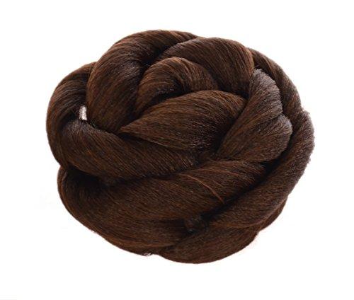 Haarknoten Rose in Ingwer Braun | Hochsteck Frisur zum Einstecken |Haarknoten im Blumen Effekt (Katy Perry Perücken)