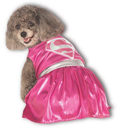 Supergirl Pink Erwachsene Kostüm Für - Rubies Costume DC Heroes und Villains Collection Pet Costume-pink Supergirl