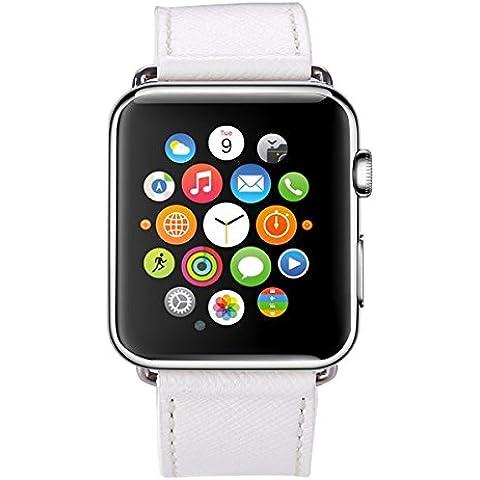 Per Apple Watch Band, iWatch cinturino in vera pelle vintage Premium Cinturino con fibbia di chiusura in metallo di ricambio per Apple Watch Sport Edition - Fossil Womens Metallo