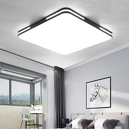 Plafoniera semplice moderna casa camera da letto soggiorno illuminazione creativa plafoniera quadrata scatola nera 50CM48 watt
