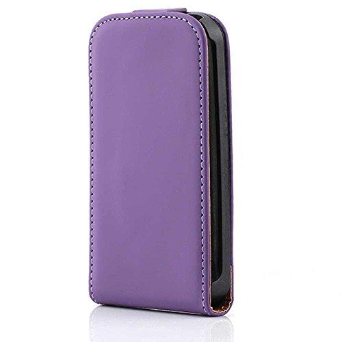 HSRpro Flip Hülle für Apple iPhone 3G - iPhone 3GS - Schutzhülle Cover Case Schutz Etui in Lila Iphone 3g Leder-etui