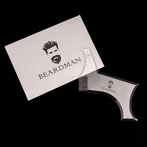 Transparente Bartschablone von Beardman - Innovatives 2017er Modell Abbildung 3