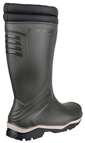 Dunlop K486061 GEV.LRS.BLIZZ GROEN Unisex-Erwachsene Halbschaft Gummistiefel Grün / Schwarz