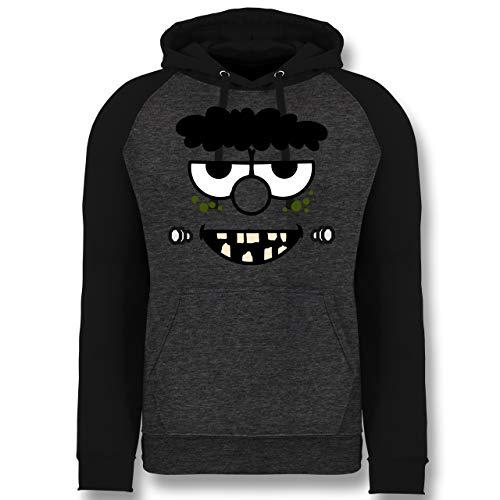Shirtracer Karneval & Fasching - Frankensteins Monster - Karneval Kostüm - XL - Anthrazit meliert/Schwarz - JH009 - Baseball ()
