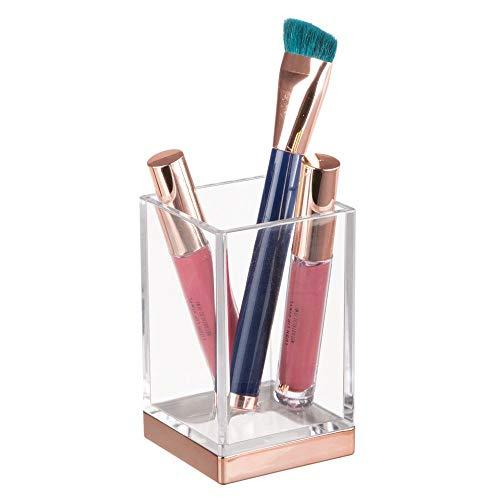 InterDesign Clarity Vaso para higiene bucal, portacepillos de baño en plástico, soporte...